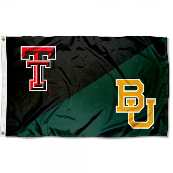 House Divided Flag - Red Raiders vs. Baylor Bears