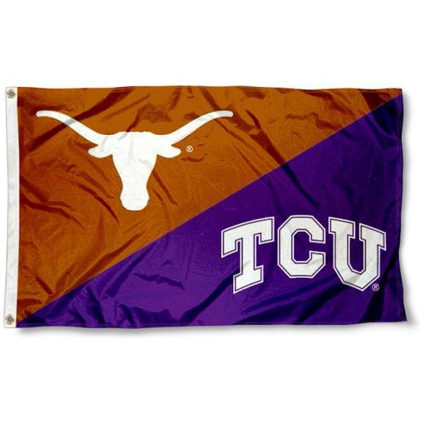 House Divided Flag - Texas Christian vs. Texas