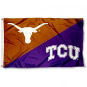 House Divided Flag - Texas Christian vs. Texas