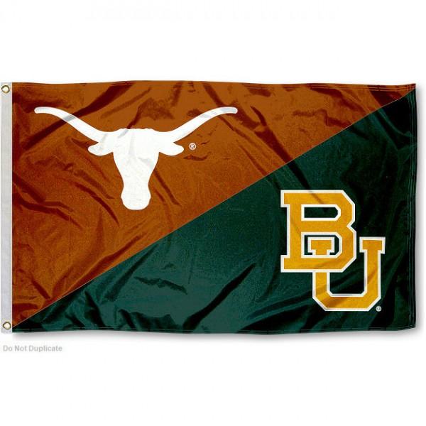 House Divided Flag - Texas vs. Baylor