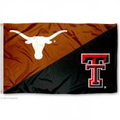 House Divided Flag - TTU Red Raiders and UT Horns