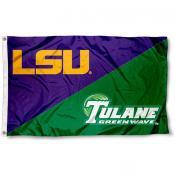 House Divided Flag - Tulane vs. LSU