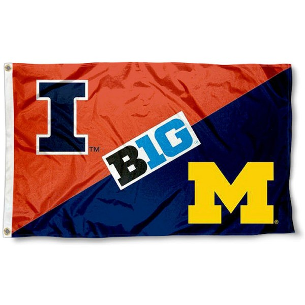 House Divided Flag - UM Wolverines vs. Illini