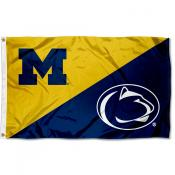 House Divided Flag - UM Wolverines vs PSU Nittany Lions