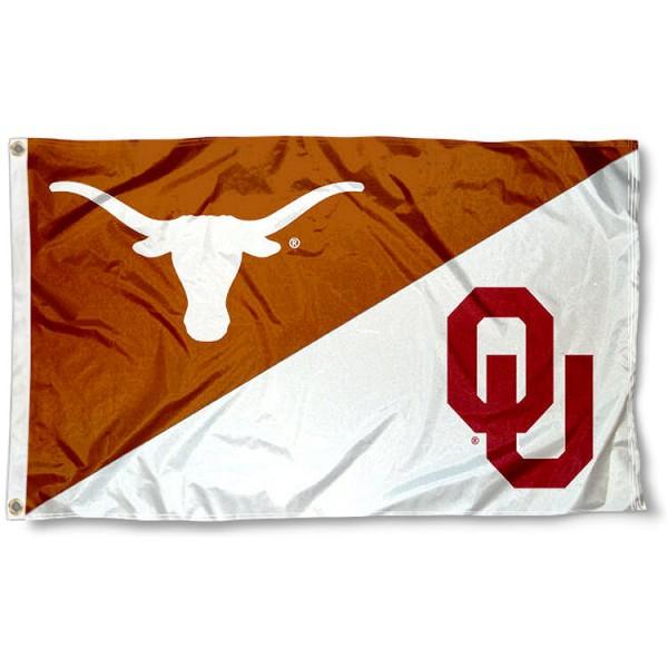 House Divided Flag - UT Longhorns vs. OU Sooners