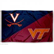 House Divided Flag - UVA Cavs and VT Hokies