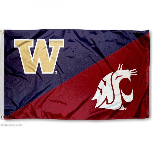 House Divided Flag - Washington vs. WSU