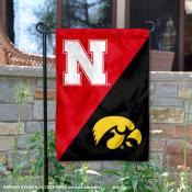 House Divided Garden Flag - Cornhuskers vs. Hawkeyes