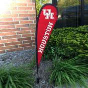 Houston Cougars Mini Teardrop Garden Flag