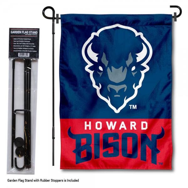 Howard Bison Garden Flag and Yard Pole Holder Set