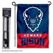 Howard Bison Garden Flag and Yard Pole Holder Set