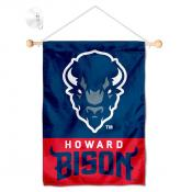 Howard Bison Window Hanging Banner with Suction Cup