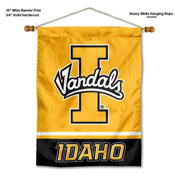 Idaho Vandals Banner with Pole
