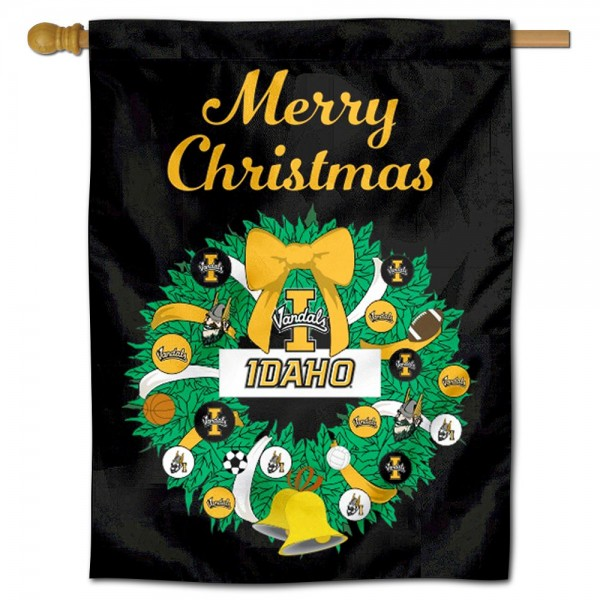Idaho Vandals Christmas Holiday House Flag