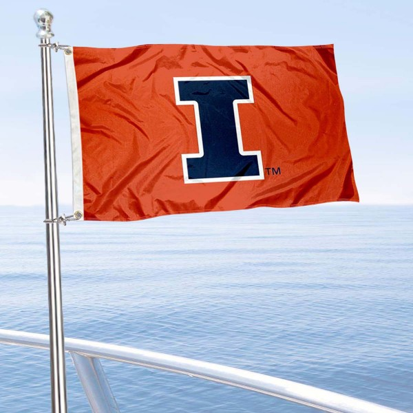 Illinois Fighting Illini Boat Nautical Flag