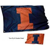 Illinois Fighting Illini Dual Logo Flag