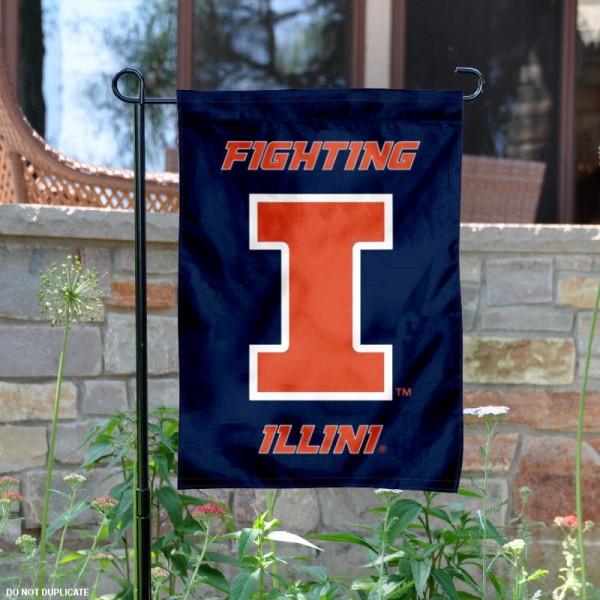 Illinois Fighting Illini Garden Flag