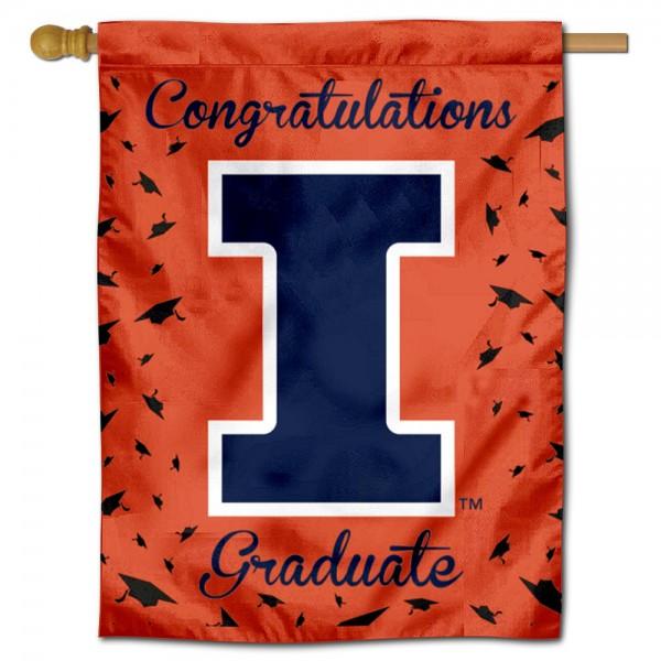 Illinois Fighting Illini Graduation Banner