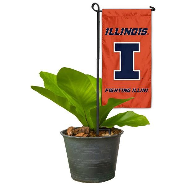 Illinois Fighting Illini Mini Garden Flag and Table Topper