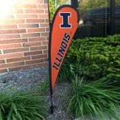 Illinois Fighting Illini Mini Teardrop Garden Flag