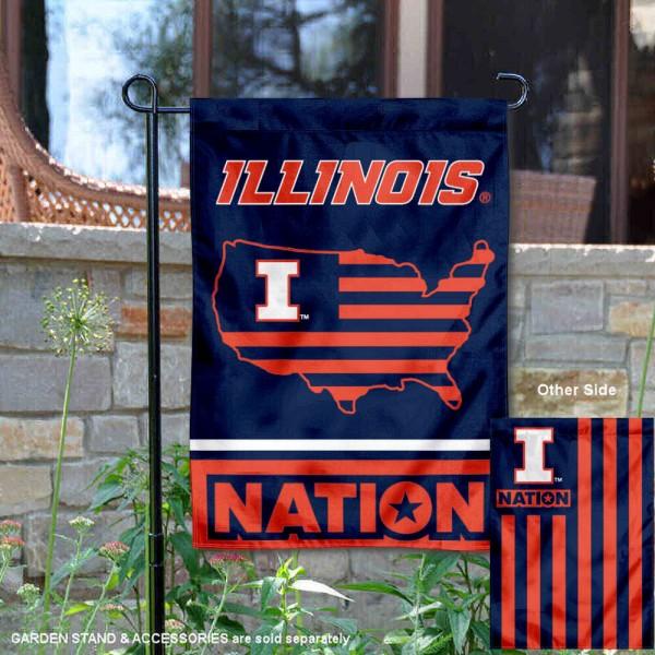 Illinois Fighting Illini Nation Garden Flag