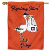 Illinois Fighting Illini New Baby Banner