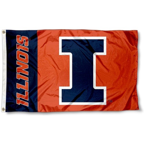 Illinois Fighting Illini New Logo Flag