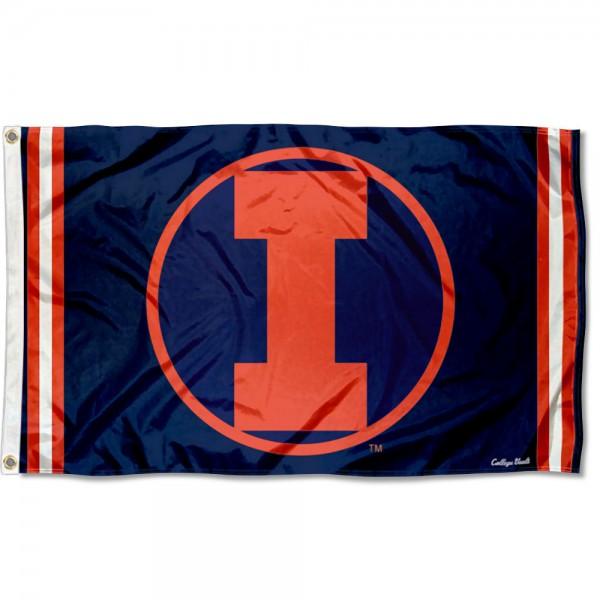Illinois Fighting Illini Retro Vintage 3x5 Feet Banner Flag