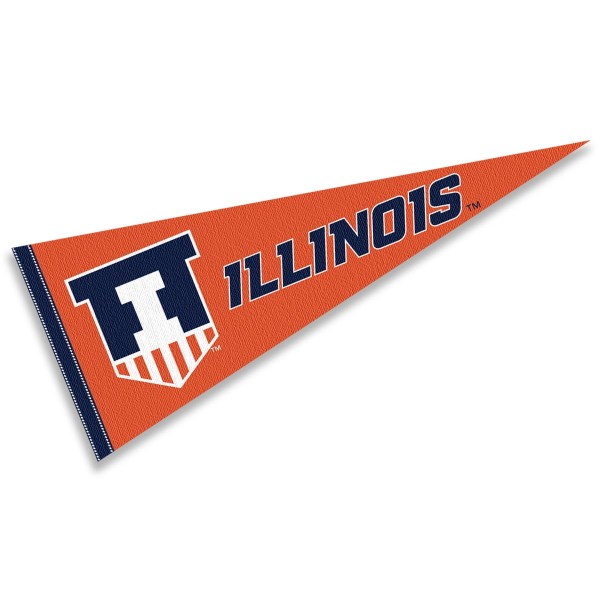 Illinois Fighting Illini Victory Badge Pennant