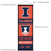 Illinois Fighting Illini Wall Banner and Door Scroll