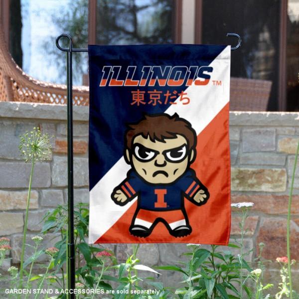 Illinois Fighting Illini Yuru Chara Tokyo Dachi Garden Flag