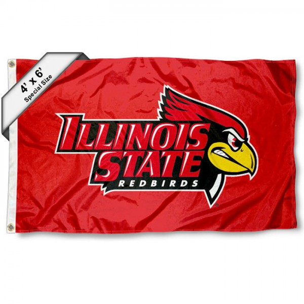 Illinois State Redbirds 4'x6' Flag
