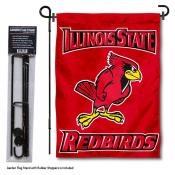 Illinois State Redbirds Garden Flag and Holder