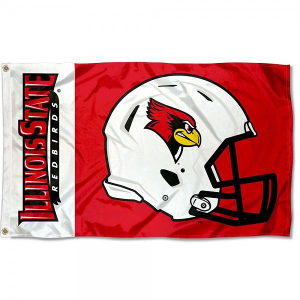 Illinois State Redbirds Helmet Flag