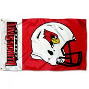 Illinois State Redbirds Helmet Flag