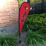 Illinois State Redbirds Mini Teardrop Garden Flag