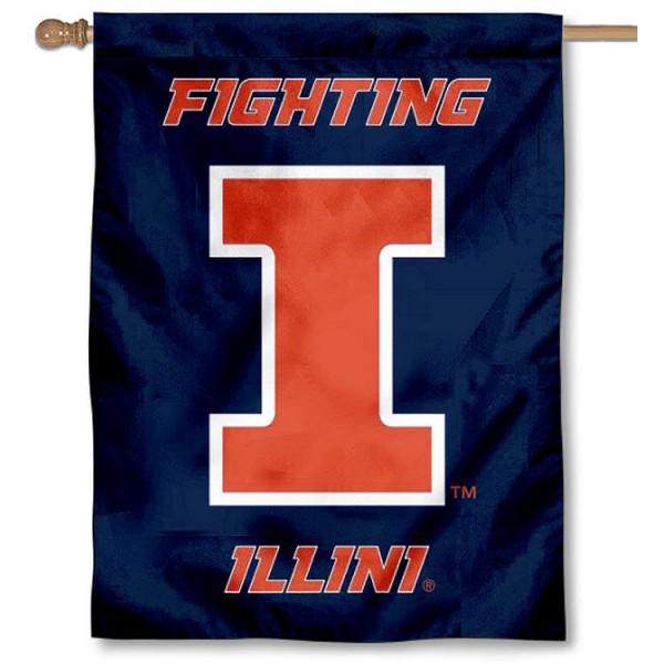 Illinois U of I Fighting Illini House Flag