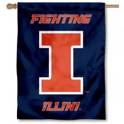 Illinois U of I Fighting Illini House Flag