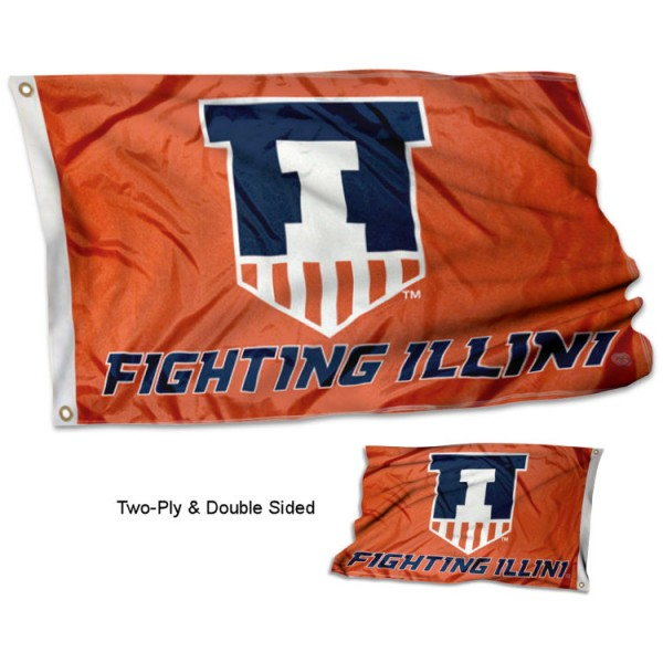 Illinois Victory Badge Stadium Flag