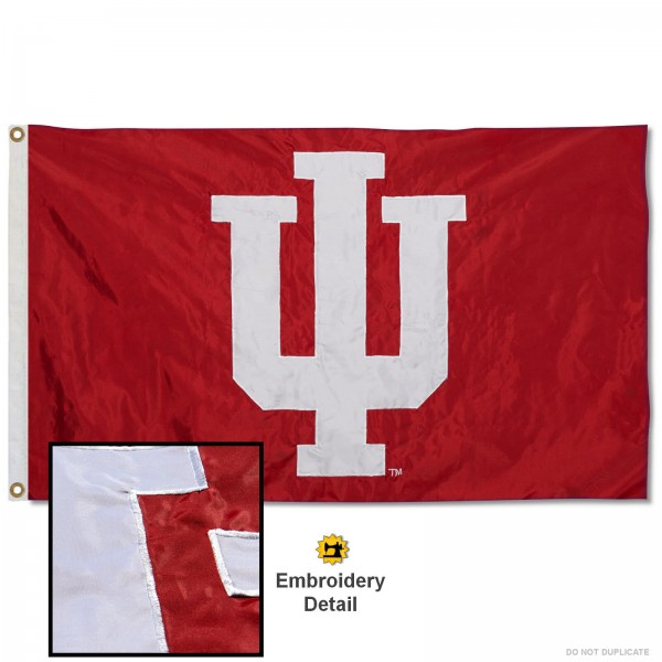 Indiana Hoosiers Appliqued Nylon Flag