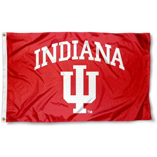 Indiana Hoosiers School Flag