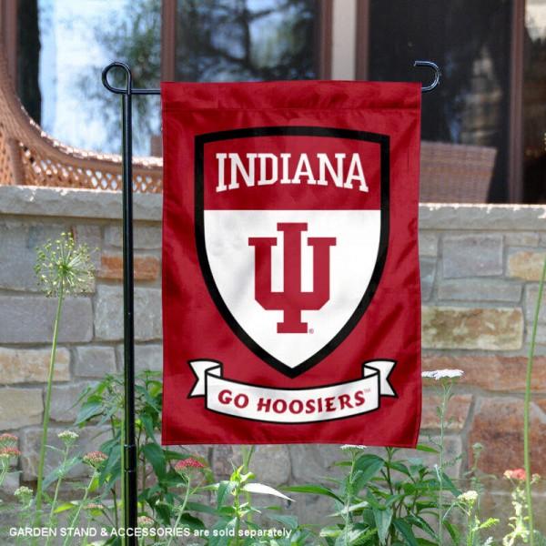 Indiana Hoosiers Shield Garden Banner