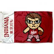 Indiana Hoosiers Tokyodachi Cartoon Mascot Flag