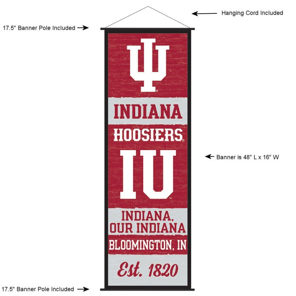 Indiana Hoosiers Wall Banner and Door Scroll
