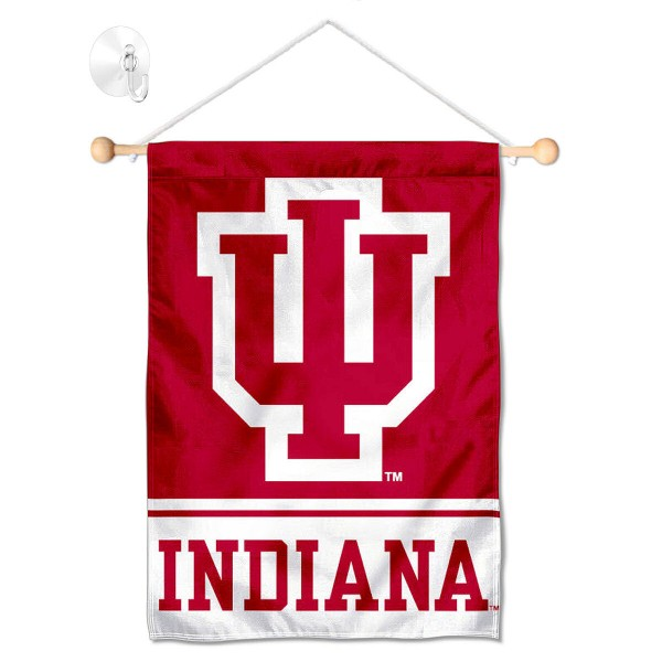 Indiana Hoosiers Window Hanging Banner with Suction Cup