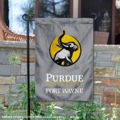 Indiana Purdue Mastodons Insignia Double Sided Garden Flag