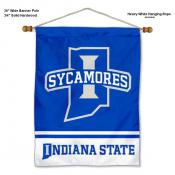 Indiana State Sycamores Banner with Pole