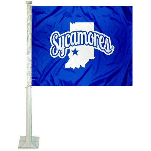 Indiana State Sycamores Car Flag