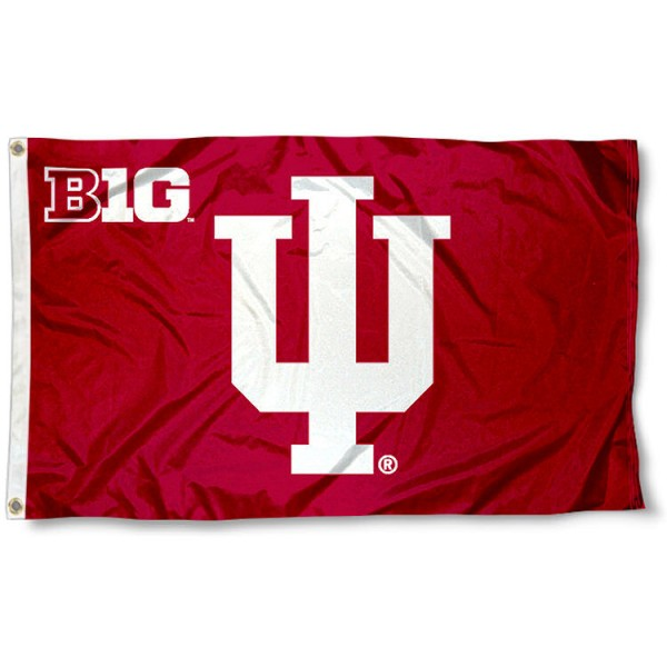 Indiana University Big 10 Flag