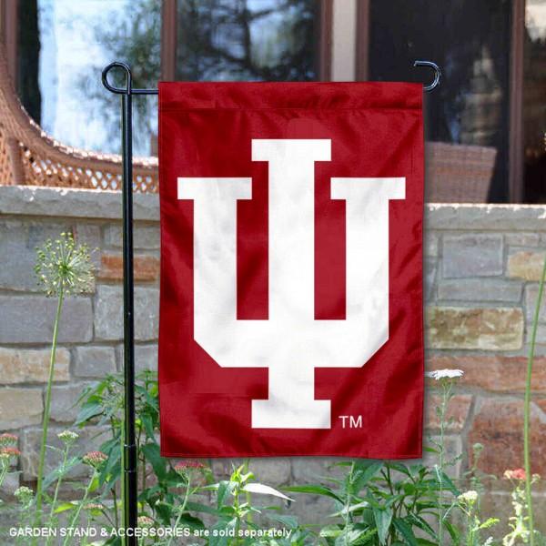 Indiana University IU Logo Double Sided Garden Flag